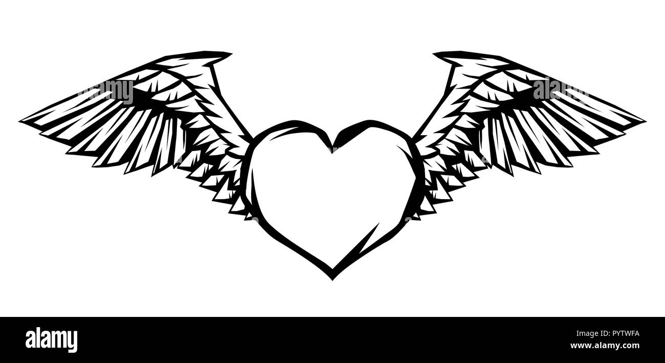 Gothic Heart Tattoo Stockfotos Gothic Heart Tattoo Bilder Alamy