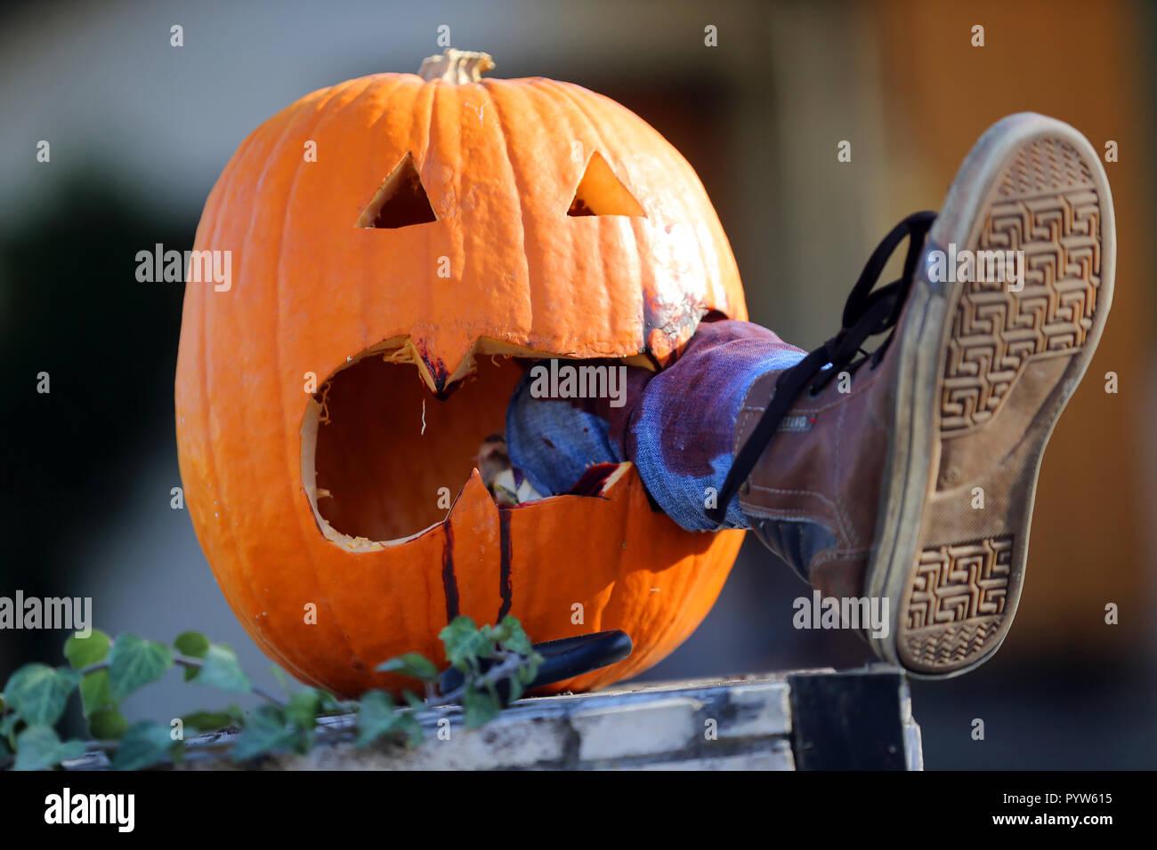 Halloween 30 Oktober.30 Oktober 2018 Brandenburg Schoneiche B Berlin Eine