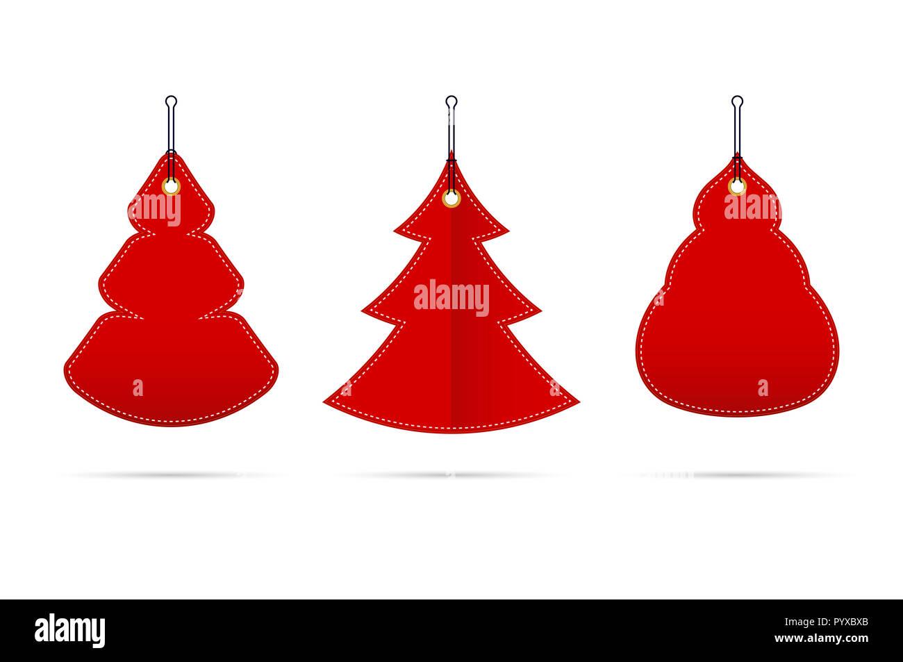 Rot leer Verkauf Tags in Form von Weihnachtsbäumen in verschiedenen ...