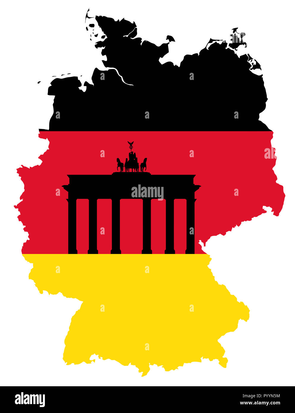 Brandenburger Tor Karte Deutschland Fahne Abbildung Stockfotografie Alamy