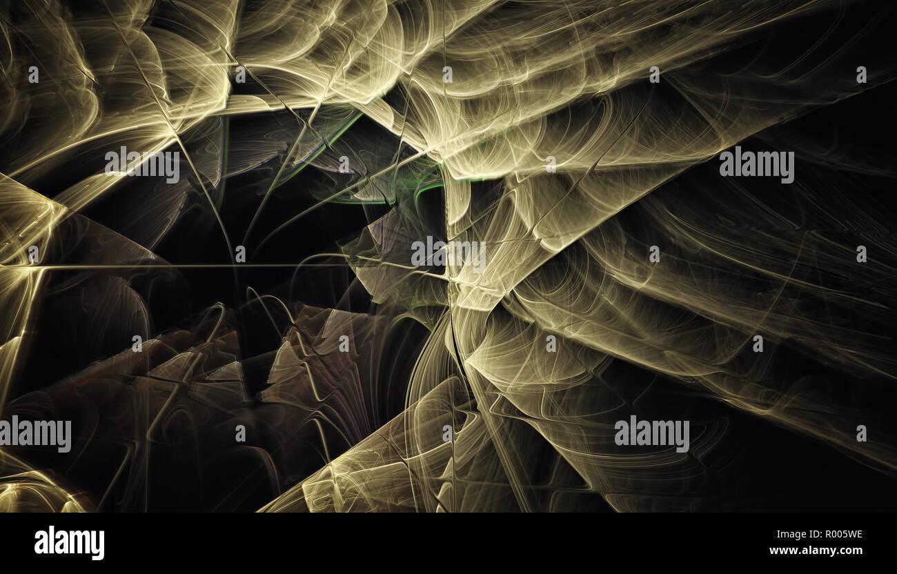 Schönen Hintergrund der glühende Partikel und Linien mit Schärfentiefe und Bokeh. 3D-Illustration, 3D-Rendering Stockbild