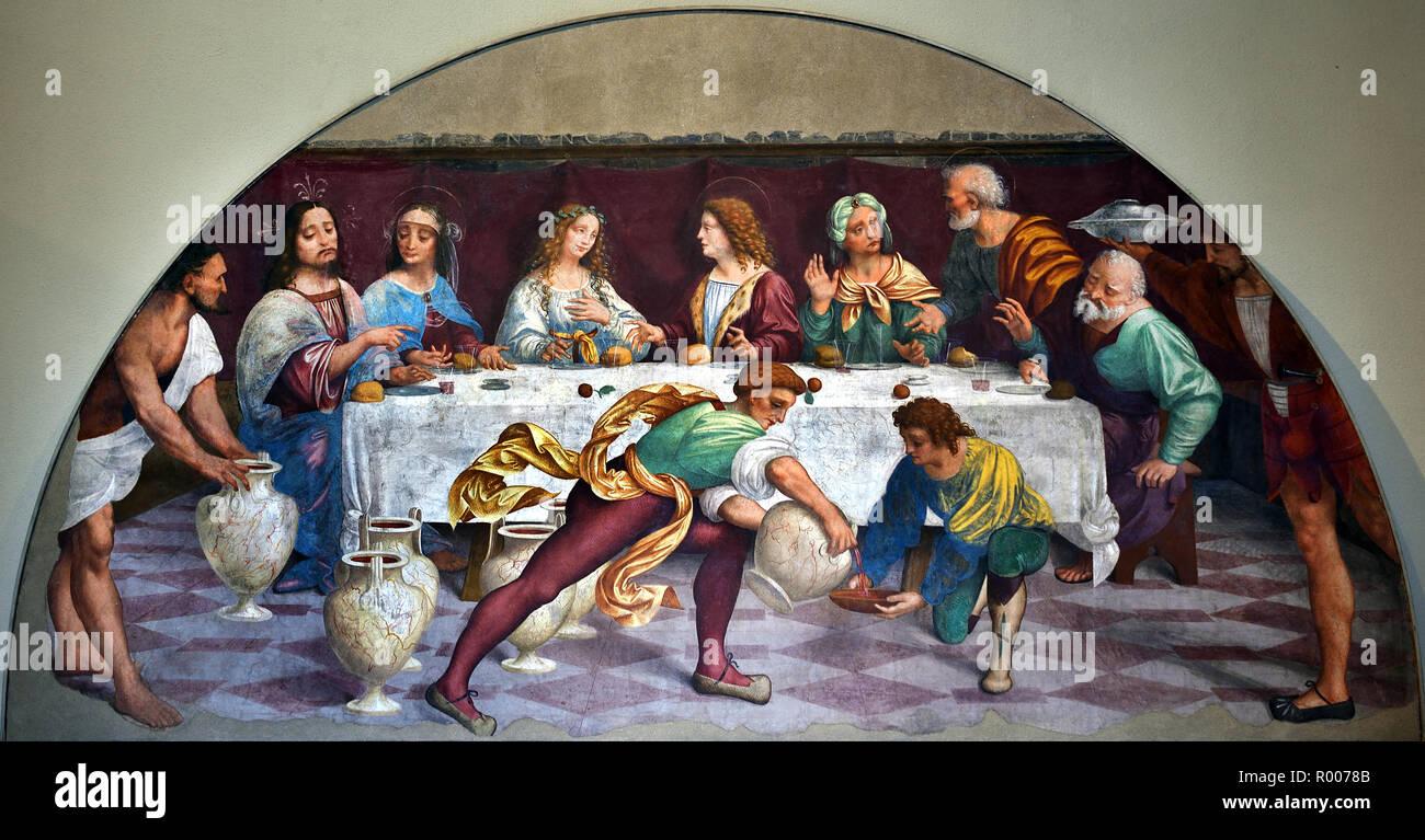 Hochzeit In Kana 1520 Marco D Oggiono 1475 1530 15 16