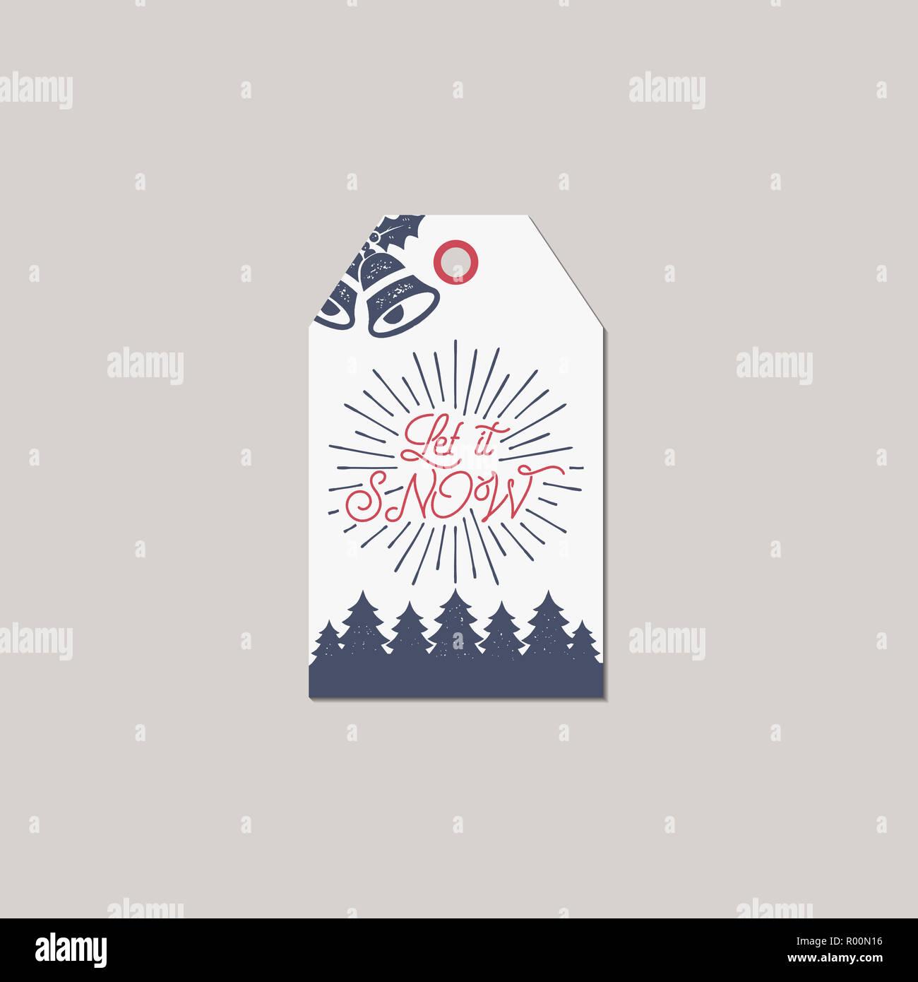 Geschenkanhänger Frohe Weihnachten.Frohe Weihnachten Und Neues Jahr Geschenkanhänger Holiday Card