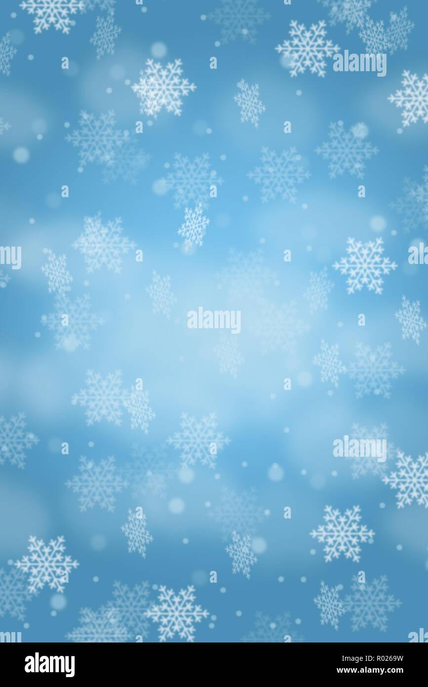 Weihnachten Hintergrund Karte Muster Schnee Schneeflocken