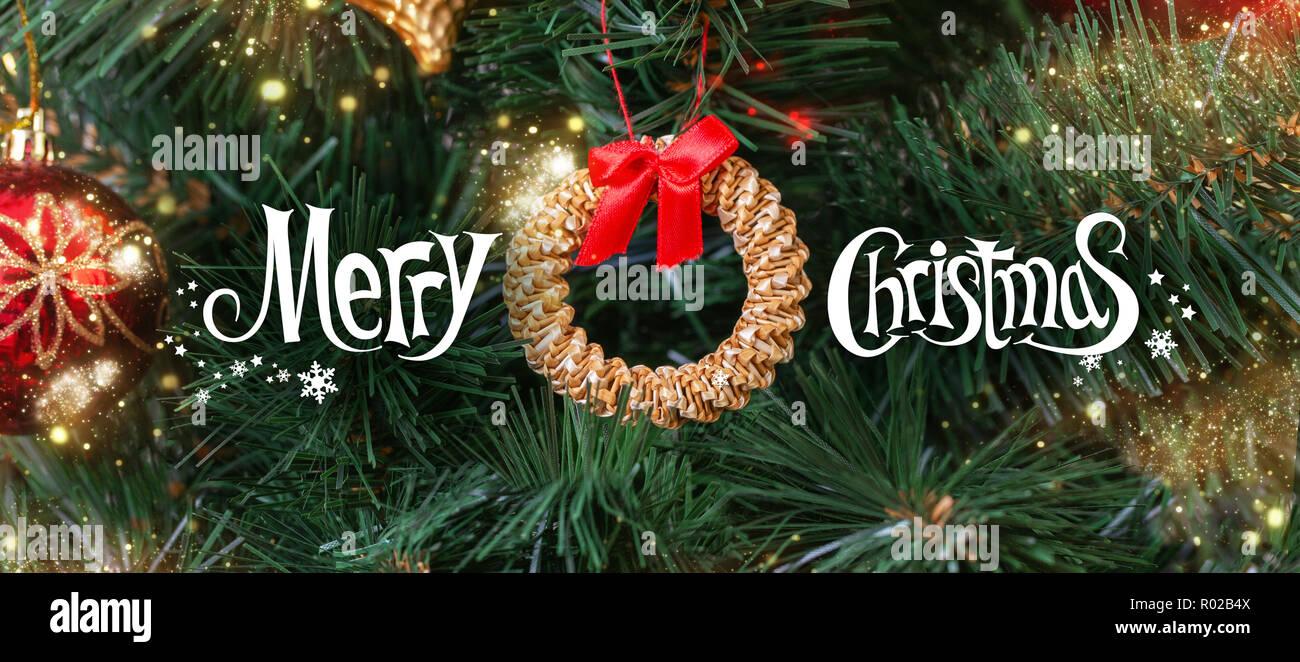 Frohe Weihnachten Englisch.Grußkarte Mit Der Wunsch Frohe Weihnachten In Englisch Vor Dem