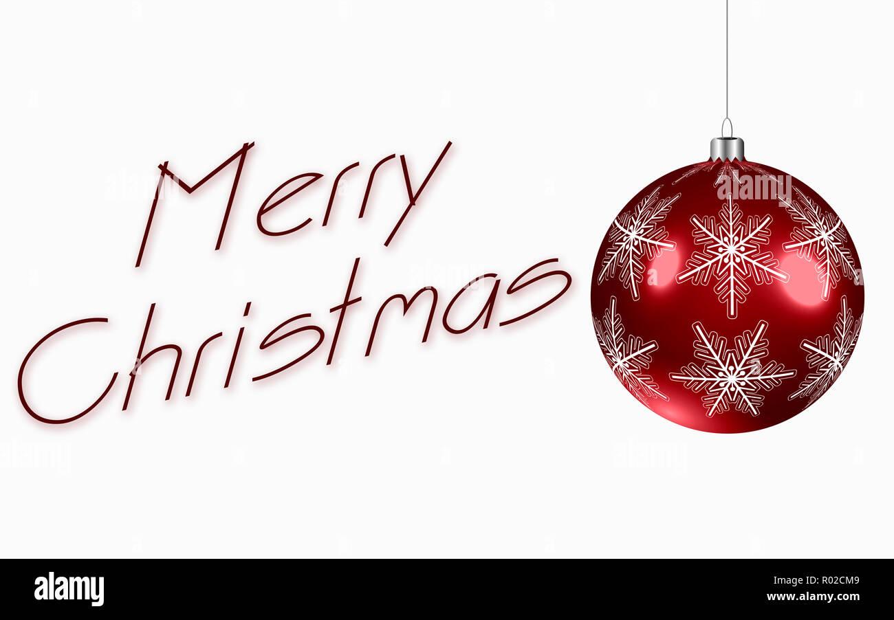 Definition Weihnachten.Red Christmas Ball In High Definition Mit Schneeflocken Frohe