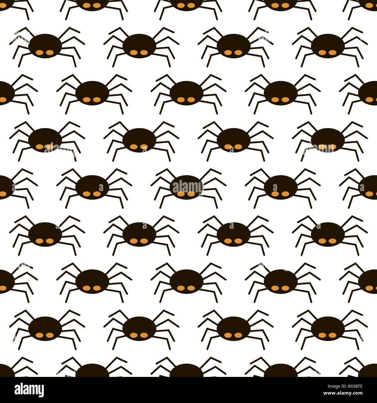 Unheimlich große schwarze Spinne nahtlose Muster, giftige isect Stockbild