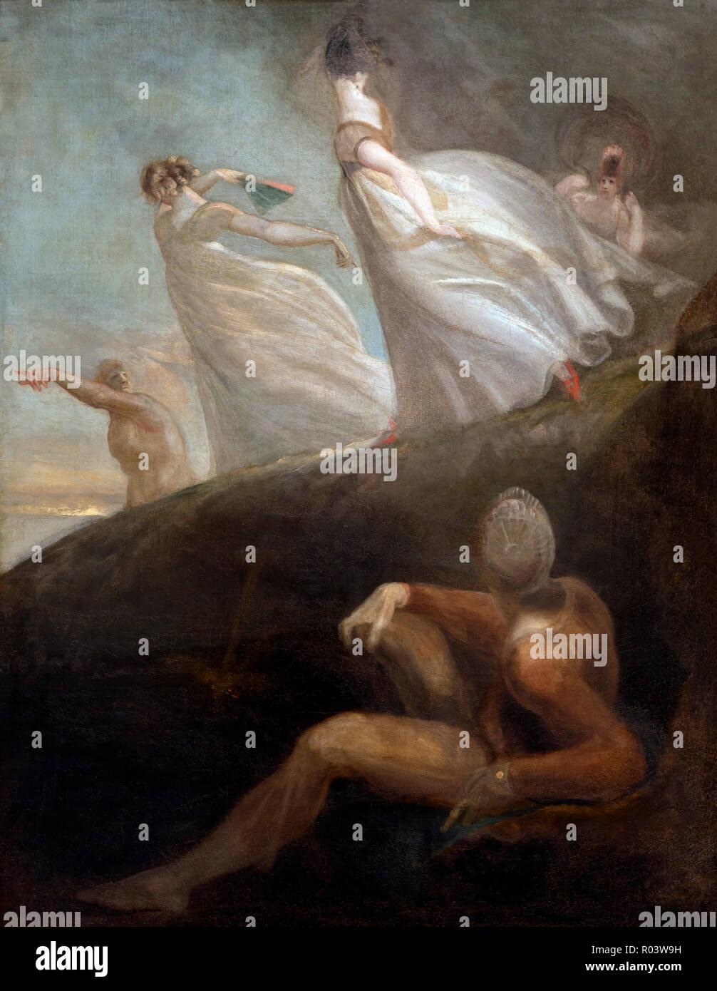 Die Damen von Hastings, Henry Fuseli, 1798-1800, Zürich, Kunsthaus, Zürich, Schweiz, Europa Stockbild