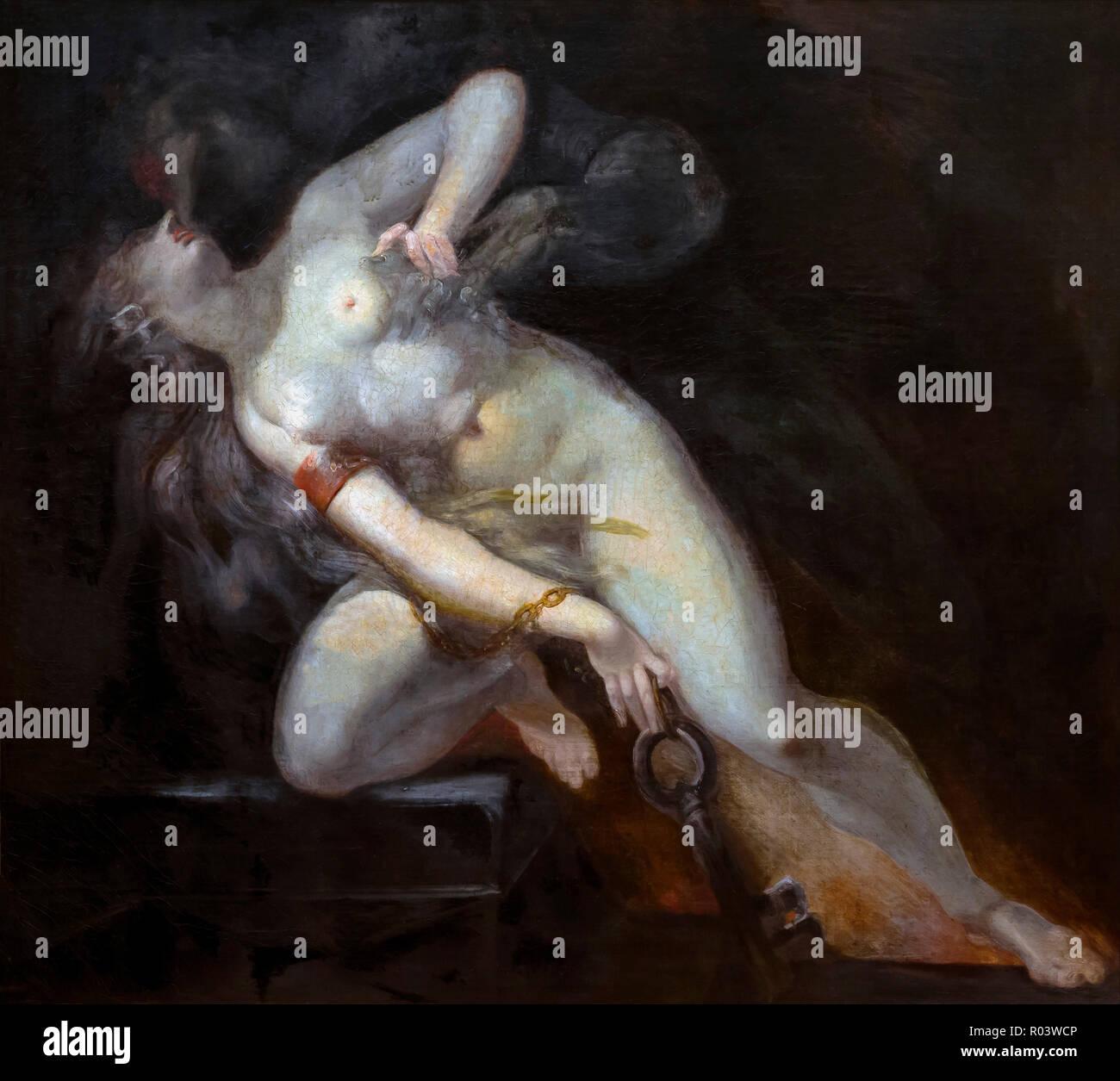 Sünde verfolgt durch Tod, Henry Fuseli, ca. 1794-1786, Zürich, Kunsthaus, Zürich, Schweiz, Europa Stockbild