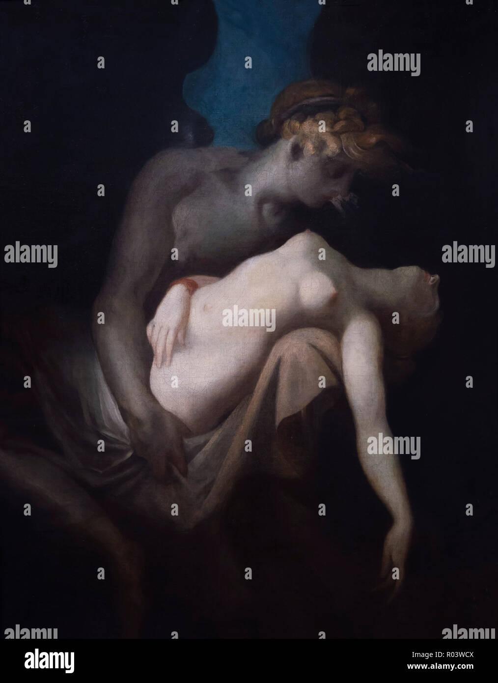Amor und Psyche, Henry Fuseli, 1810, Zürich, Kunsthaus, Zürich, Schweiz, Europa Stockbild