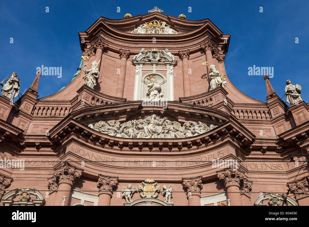Neumünster Abbey in Würzburg. Würzburg, Bayern, Deutschland. Stockbild