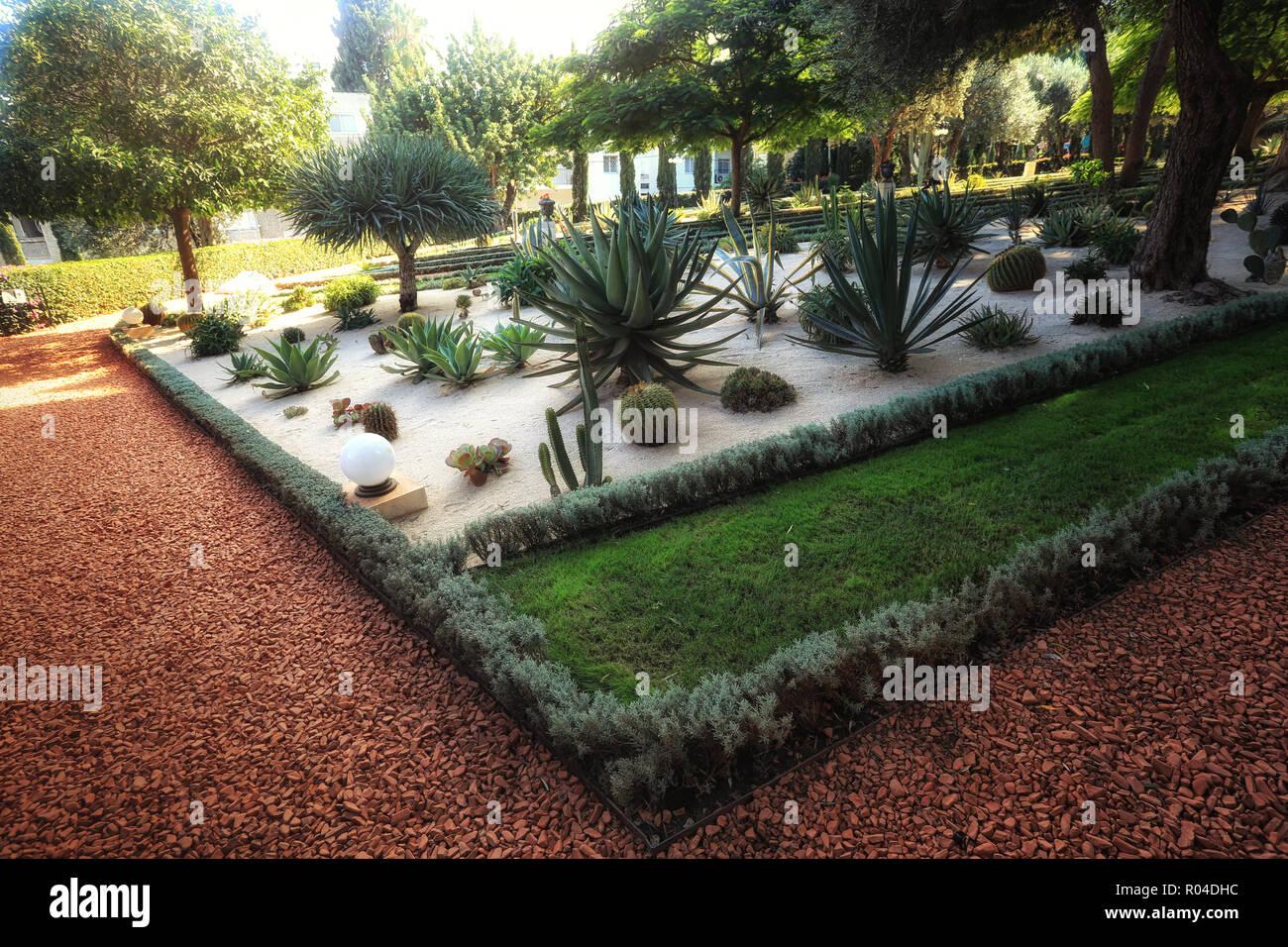 Die Bahai Garten In Haifa In Israel Es Ist Ein Ort Wo Menschen