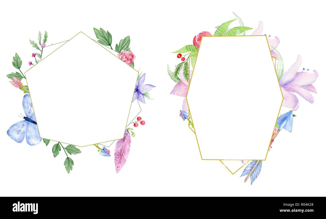 Hochzeit Einladung Floral Einladen Karte Oliven Blumen Und
