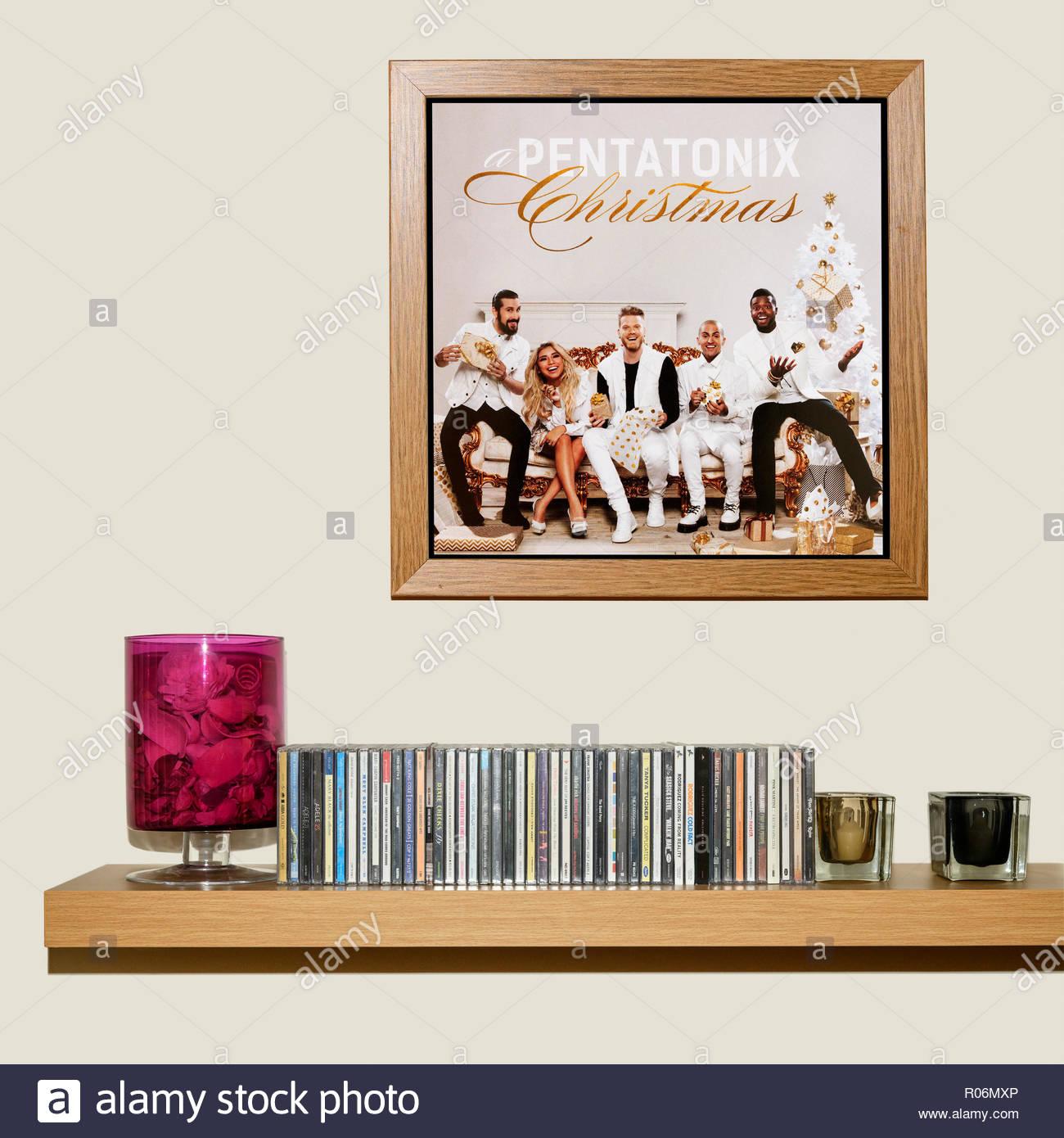 CD-Sammlung und gerahmten Pentatonix Album eine pentatonix ...