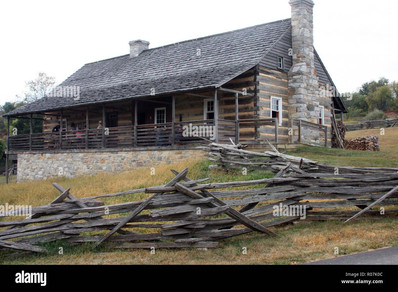 Historische Struktur Bei Frontier Culture Museum Virginia