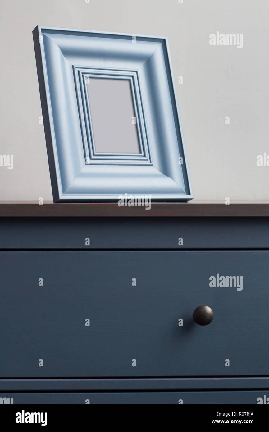 Vertikale Frontansicht Detail Der Quadratischen Dicke Bilderrahmen