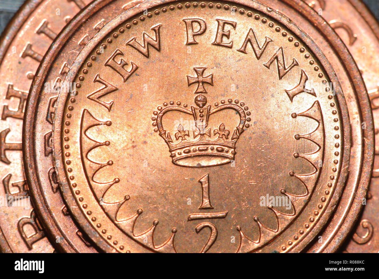 Größe Vergleich Der 12 Cent 1 Cent Und 2 Cent Münzen Stockfoto