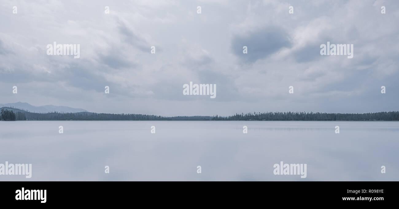Riddle Lake Yellowstone Stockfoto