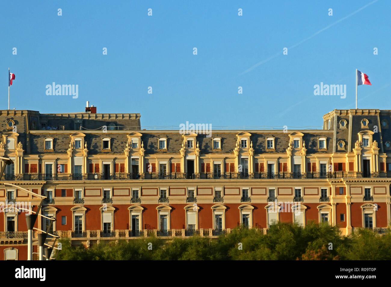 Hotel du Palais in Biarritz, Pyrénées-atlantiques, Nouvelle-Aquitaine, Frankreich, Europa Stockbild