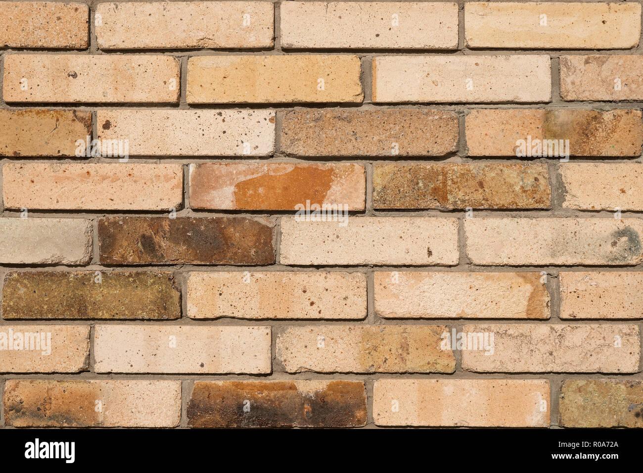 Detaillierte alten Orange brick wall Hintergrund Foto Textur Stockbild