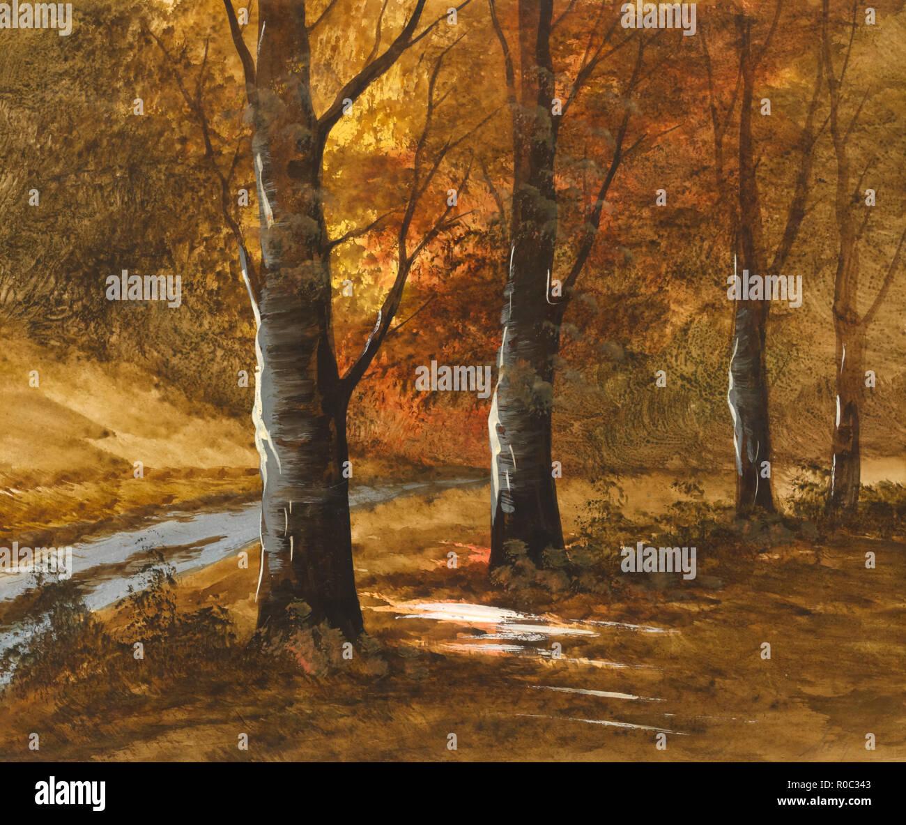 Herbst Szene II, Malerei Stockbild