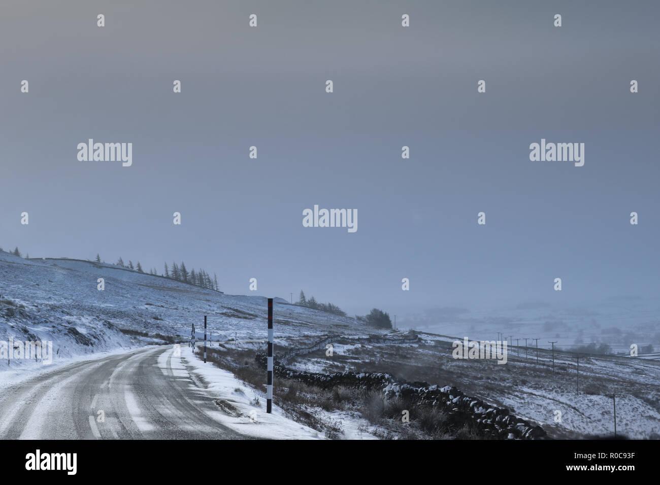 Winter in Durham Stockbild