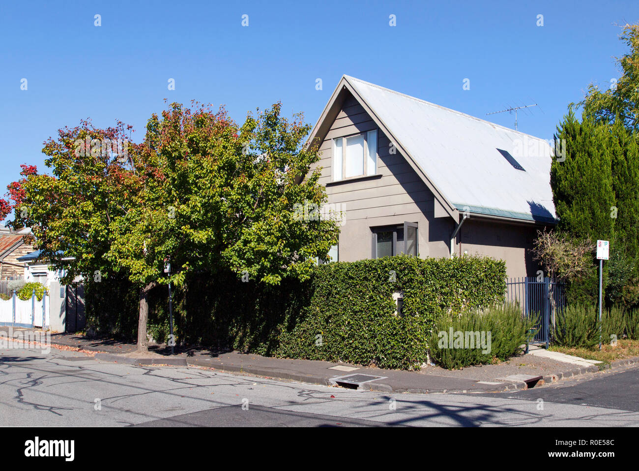 Melbourne Australien 04 April 2018 Freistehendes Chalet Auf