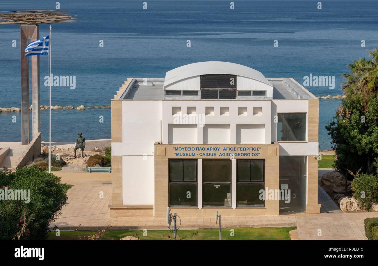 Museen des nationalen Befreiungskampfes 1955-1959, páfos an der Küste in Chlorakas, Paphos, Zypern. Stockbild