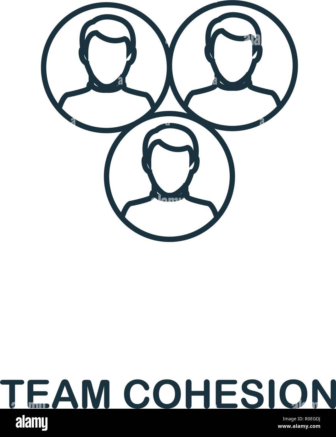 Team Zusammenhalt Umrisse Symbol Premium Design Vom