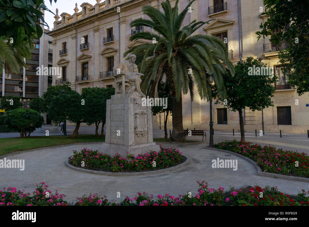 Statue in Valencia Stockbild