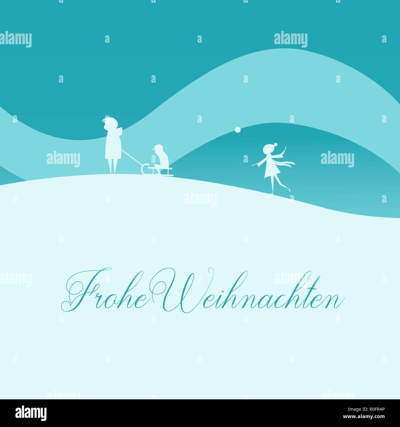 übersetzer Frohe Weihnachten.Vector Illustration Elegante Weihnachten Grußkarte Familie Mit