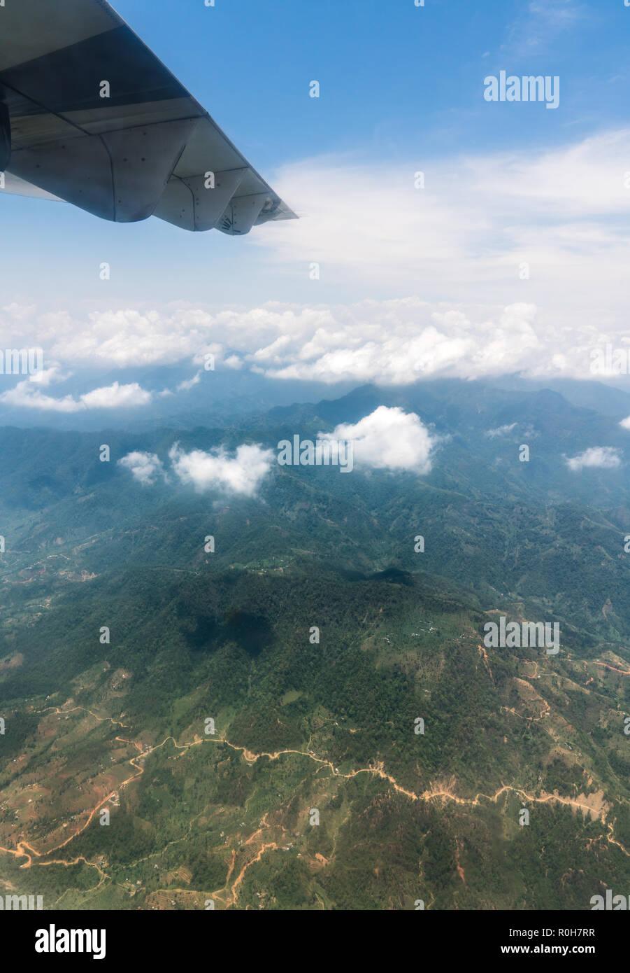 Nepal Und Der Himalaya Landschaft Blick Aus Dem Flugzeug Tourismus