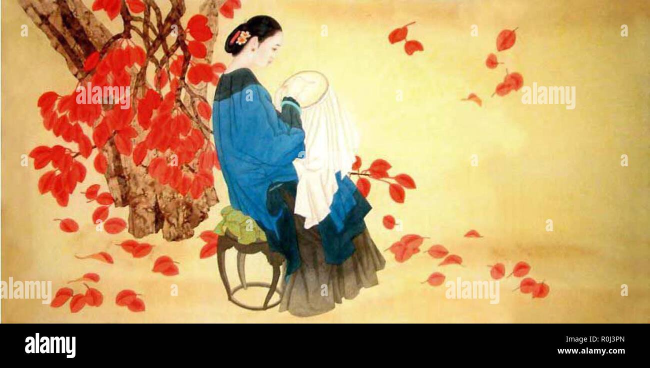 Schone Vintage Orientalische Chinesische Kunst Stockfotografie Alamy