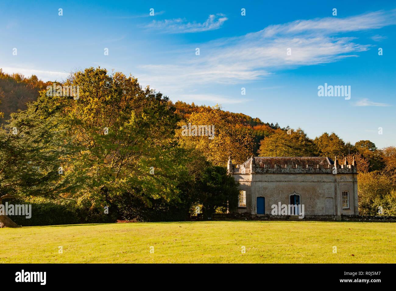 Die Bankett- Haus am Old Wardour Castle, in der Nähe von Tisbury, Salisbury, Wiltshire, UK. Stockbild