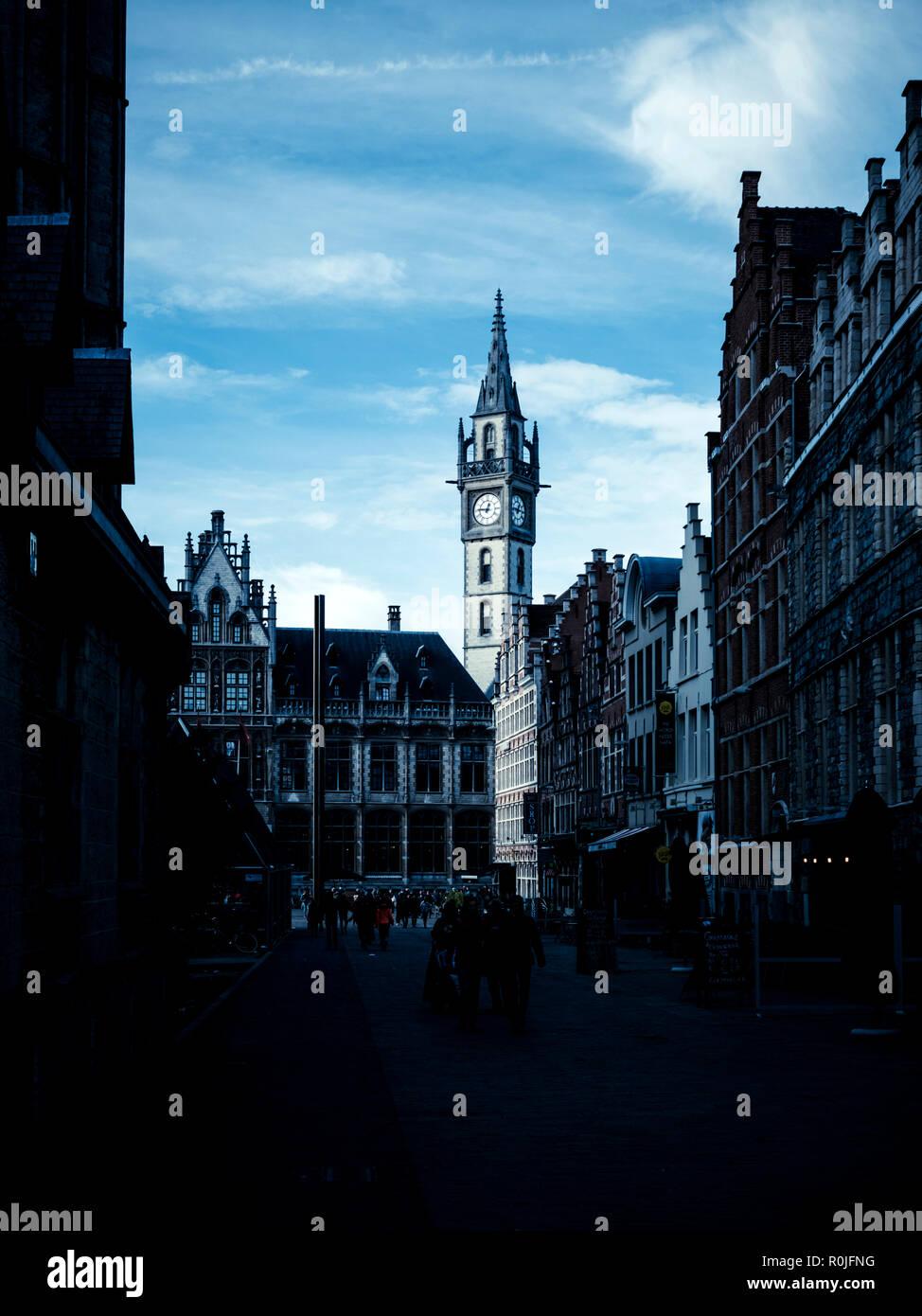 Gent Stadtbild Stockbild