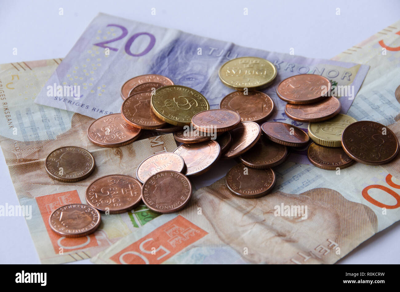 Stockholm Schweden 1 September 2018 Schwedische Währung Neue