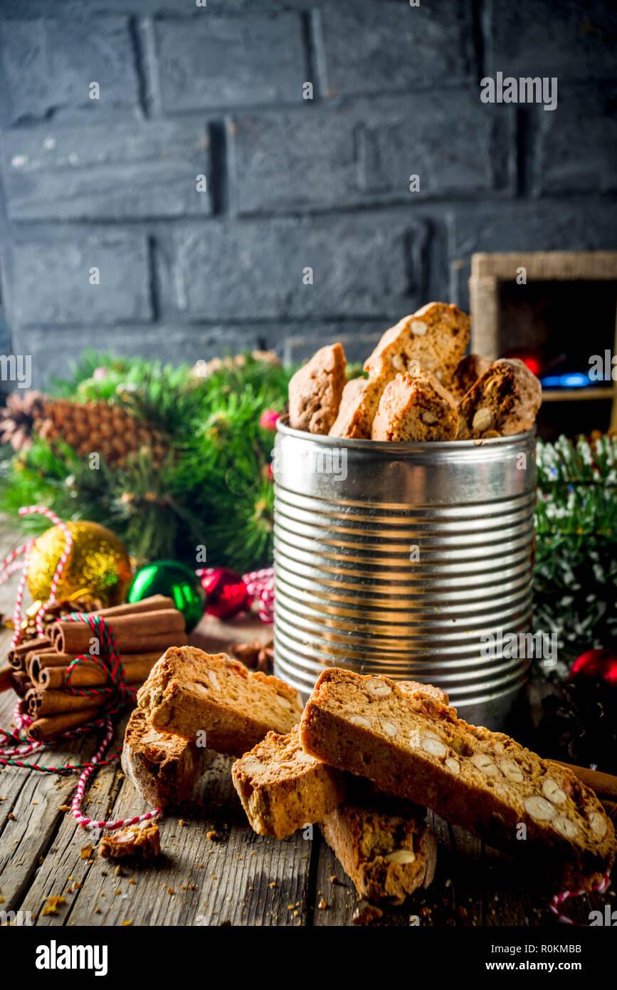 Traditionelles Weihnachtsgebäck.Traditionelles Weihnachtsgebäck Italienisch Hausgemachte Doppelt