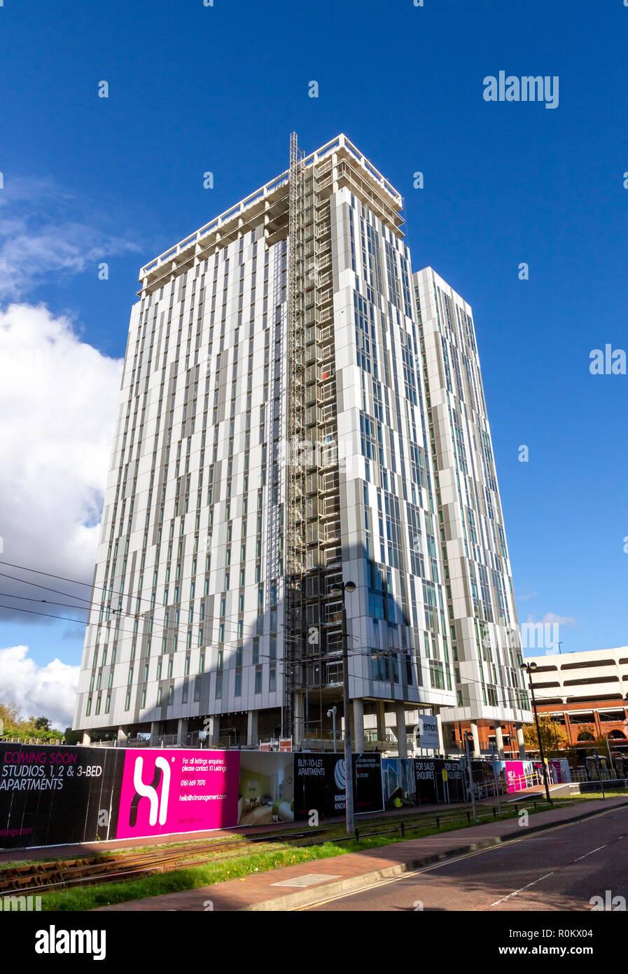 Neubau am MediaCityUK, Salford Quays, Manchester Stockfoto