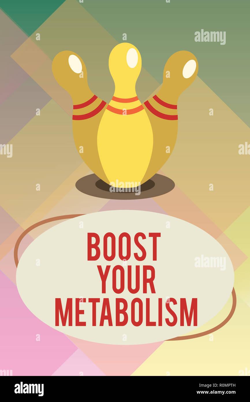 Handschrift text Steigern Sie Ihren Stoffwechsel. Konzept Bedeutung der Effizienz in der brennenden Körper Fette erhöhen. Stockbild