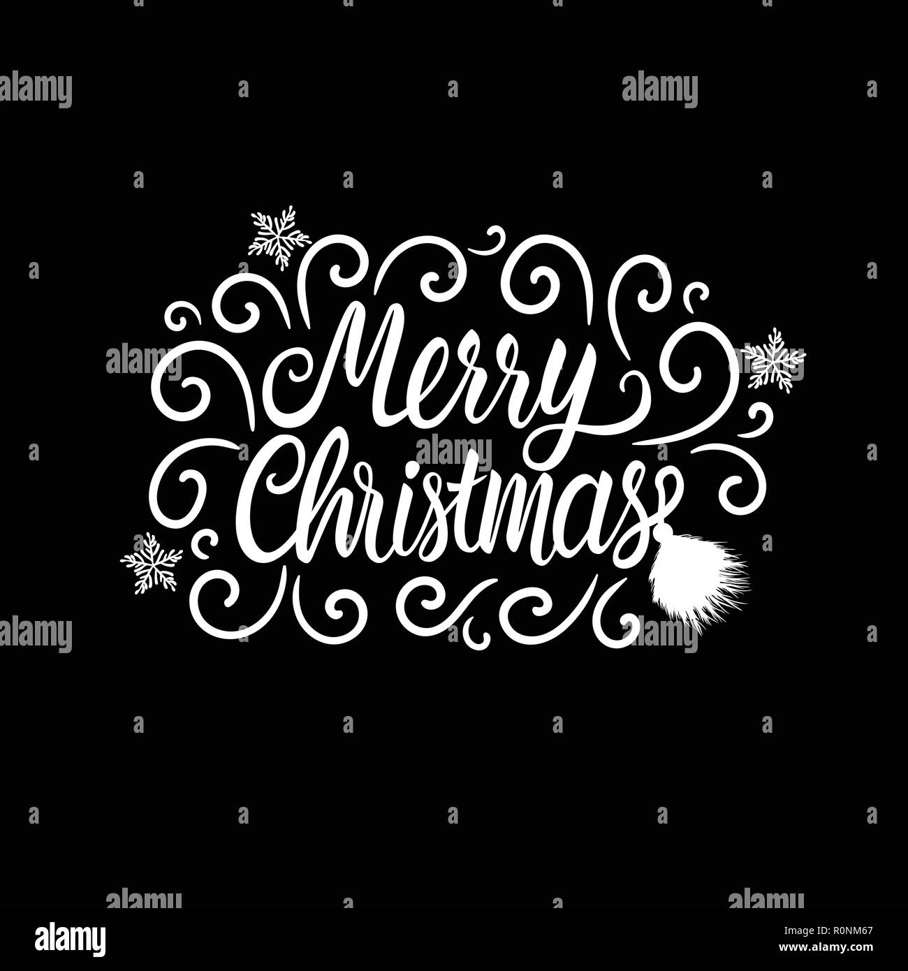 Frohe Weihnachten Text Karte.Aufschrift Frohe Weihnachten Schriftzug Karte Mit Frostigen