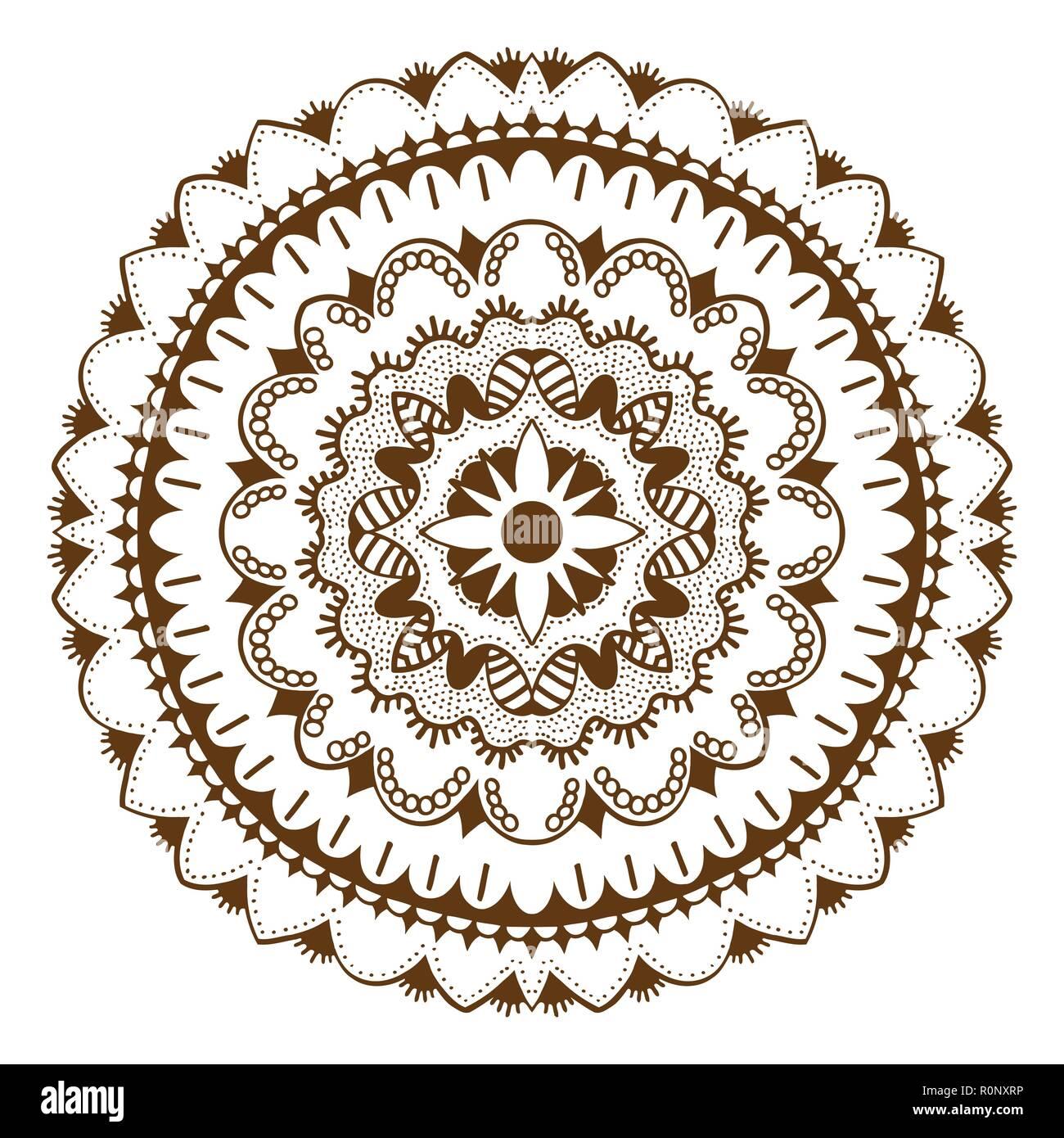 Abstrakte Floralen Ornament Mehndi Henna Tattoo Mandala Yantra