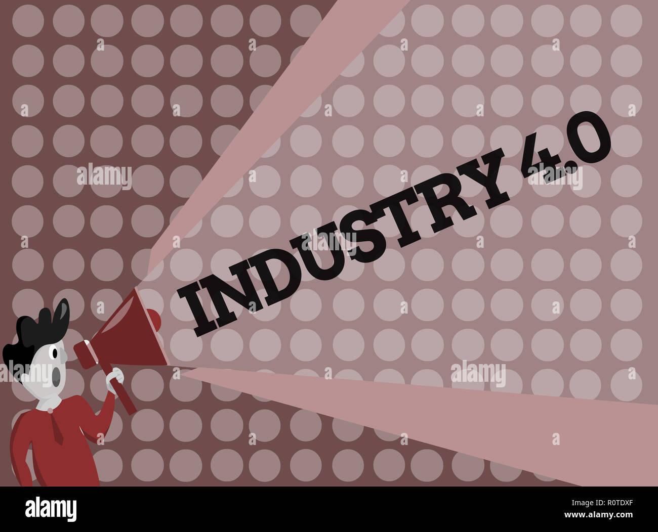 Schreiben Hinweis Ubersicht Industrie 4 0 Business Foto Prasentiert