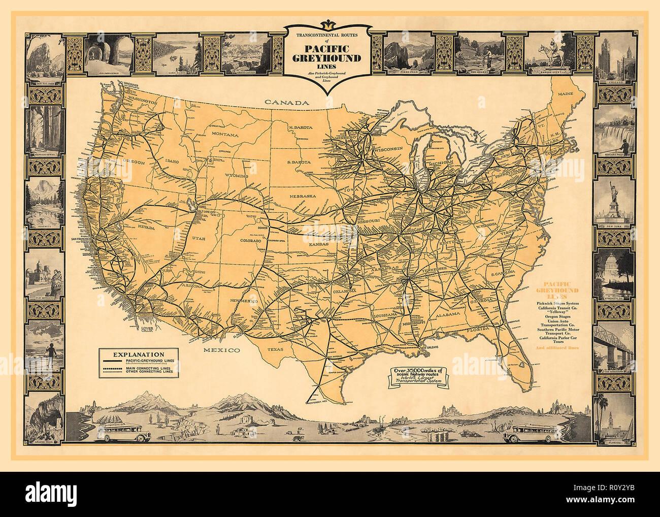 Vintage Usa Map Stockfotos & Vintage Usa Map Bilder - Alamy