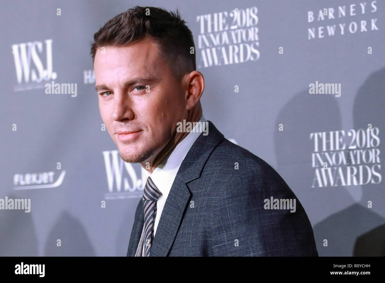New York, NY, USA. 7 Nov, 2018. Channing Tatum in der Ankunftshalle für Wall Street Journal WSJ Magazine Innovator Awards 2018, Museum für Moderne Kunst (MoMA), New York, NY, 7. November 2018. Credit: Jason Mendez/Everett Collection/Alamy leben Nachrichten Stockbild