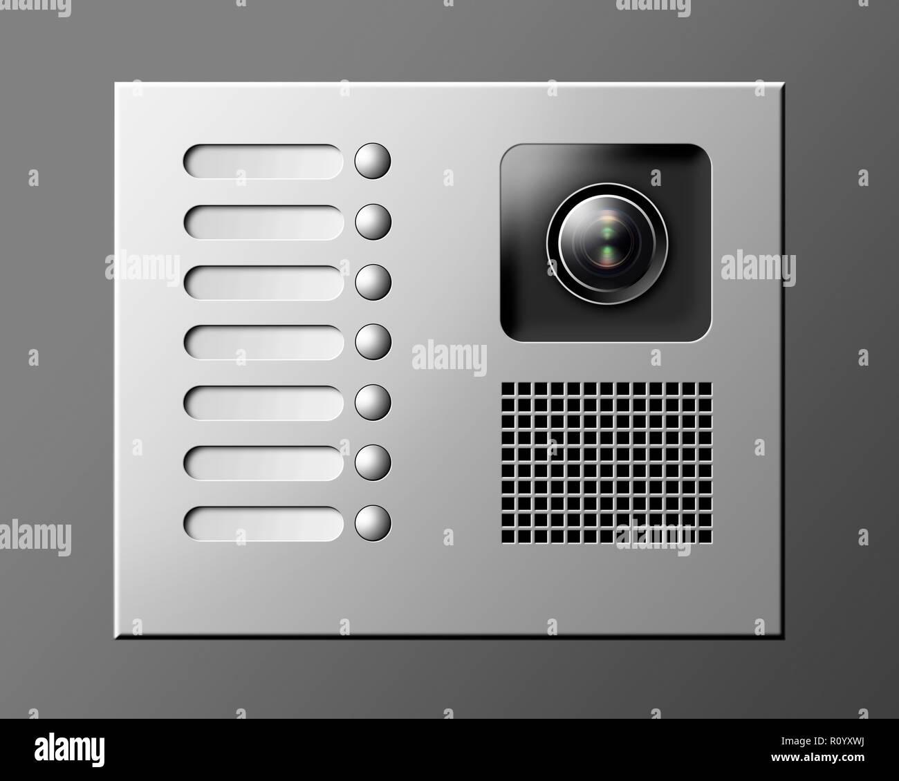 Klingel mit Gegensprechanlage und Sicherheit Kamera vor ...