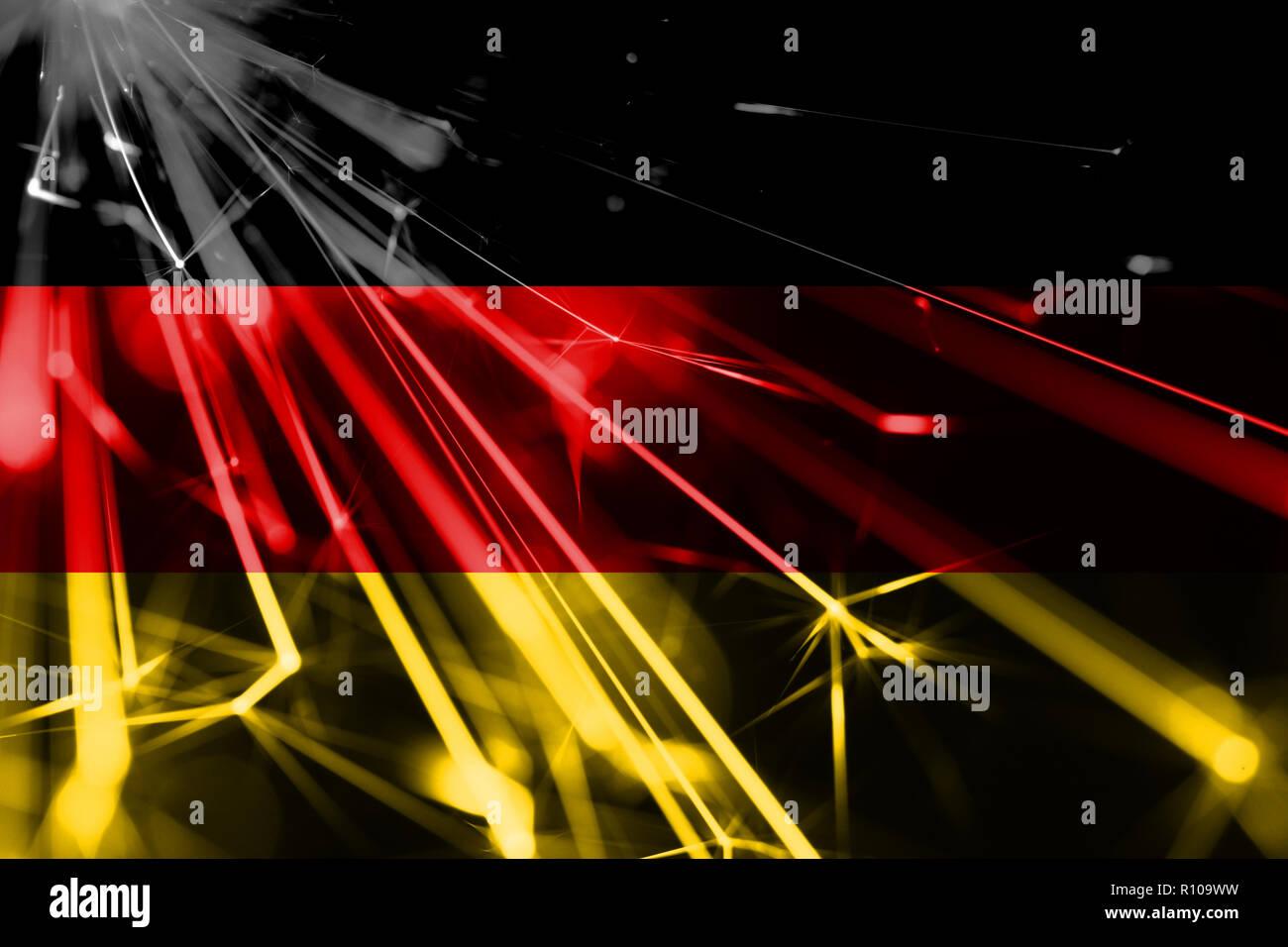 Weihnachten 2019 In Deutschland.Deutschland Leuchtendes Feuerwerk Sekt Flagge Das Neue Jahr 2019