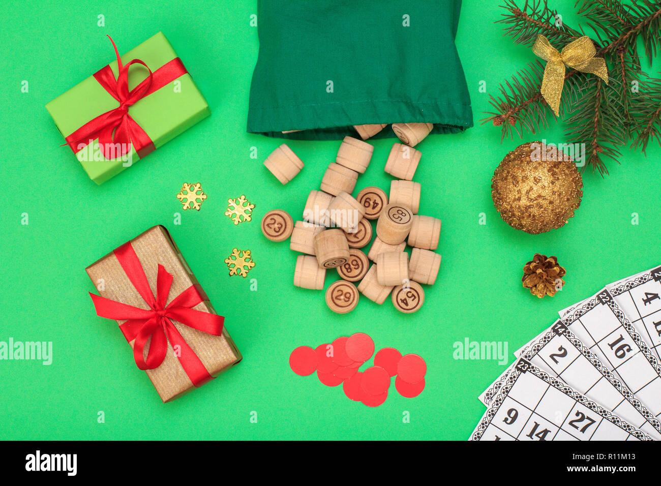 Lotto Weihnachten.Board Game Lotto Holz Lotto Fässer Mit Tasche Spielkarten Und Red