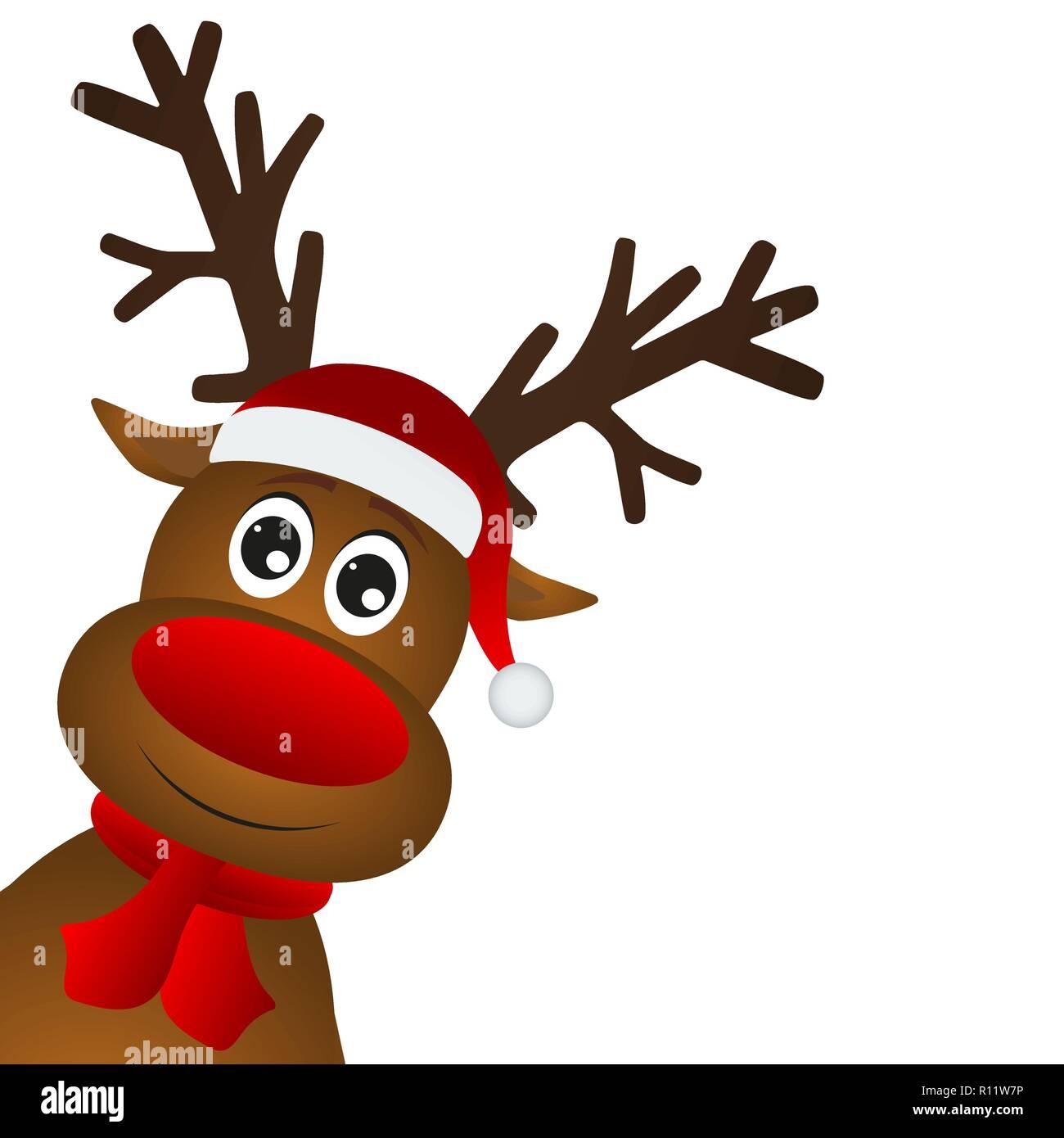 Bilder Rentiere Weihnachten.Lustige Cartoon Weihnachten Rentier Vektor Abbildung Bild