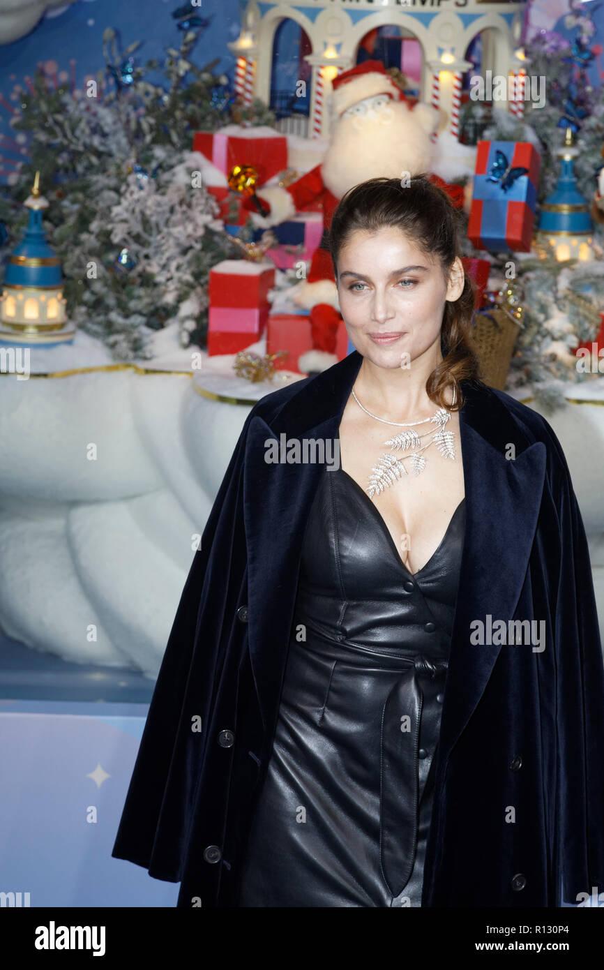 Paris, Frankreich. 8 Nov, 2018. Schauspielerin Laetitia Casta weiht ...