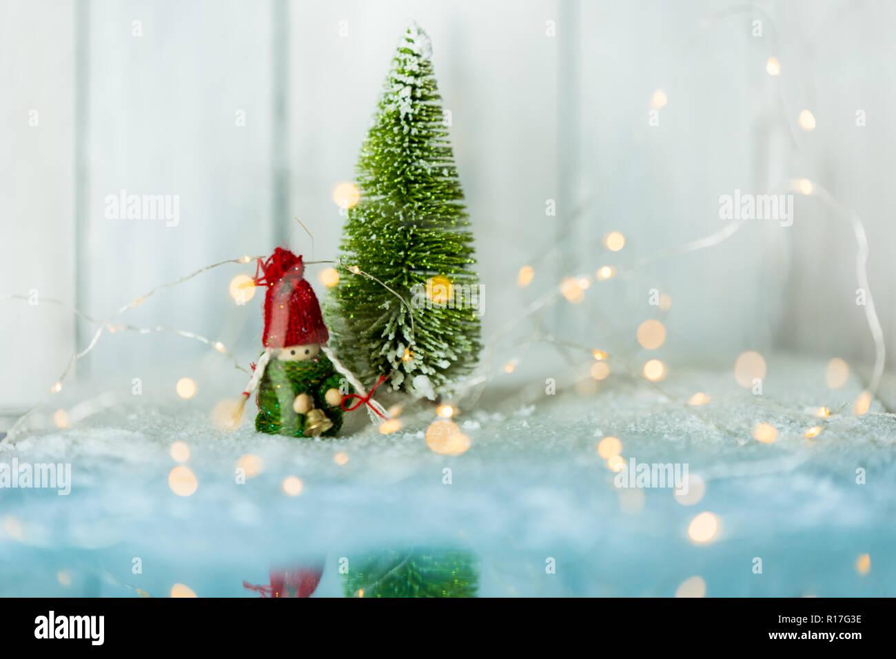 Schöne Weihnachten und Winter hellen Hintergrund mit einem ...